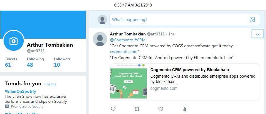 Twitter Bounty: 50 COGS – COGS Token for Enterprise Software